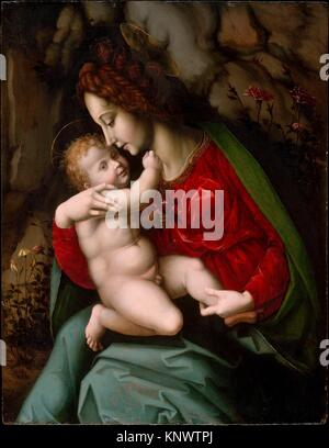 Madonna and Child. Artist: Bachiacca (Francesco d´Ubertino Verdi) (Italian, Florence 1494-1557 Florence); Date: - Stock Photo