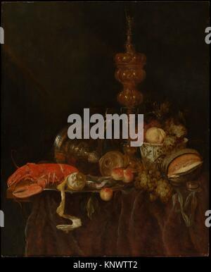 Still Life with Lobster and Fruit. Artist: Abraham van Beyeren (Dutch, The Hague 1620/21-1690 Overschie); Date: - Stock Photo