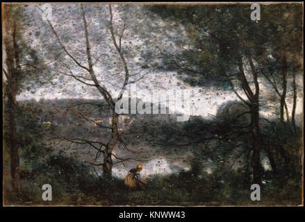 Ville-d´Avray. Artist: Camille Corot (French, Paris 1796-1875 Paris); Date: 1870; Medium: Oil on canvas; Dimensions: - Stock Photo