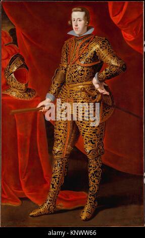 Philip IV (1605-1665) in Parade Armor. Artist: Gaspar de Crayer (Flemish, 1584-1669); Date: ca. 1628; Medium: Oil - Stock Photo