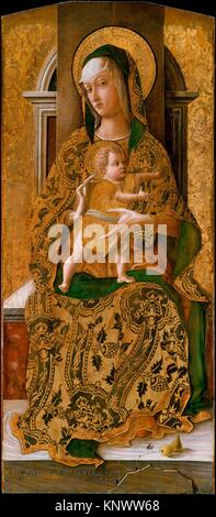 Madonna and Child Enthroned. Artist: Carlo Crivelli (Italian, Venice (?), active by 1457-died 1495 Ascoli Piceno); - Stock Photo
