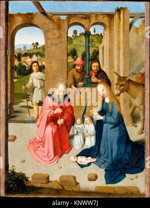 The Nativity. Artist: Gerard David (Netherlandish, Oudewater ca. 1455-1523 Bruges); Date: early 1480s; Medium: Oil - Stock Photo