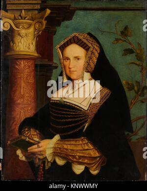 Lady Guildford (Mary Wotton, born 1500). Artist: Copy after Hans Holbein the Younger (British, 16th century); Medium: - Stock Photo