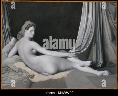 Odalisque in Grisaille. Artist: Jean Auguste Dominique Ingres (French, Montauban 1780-1867 Paris) and Workshop; - Stock Photo