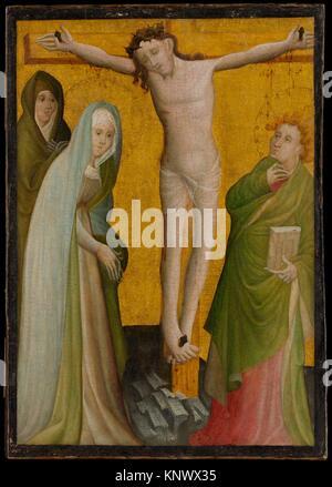 The Crucifixion. Artist: Master of the Berswordt Altar (German, Westphalian, active ca. 1400-35); Date: ca. 1400; - Stock Photo