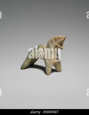 Horse Figurine. Object Name: Figure; Date: 9th century; Geography: Excavated in Iran, Nishapur; Medium: Earthenware; - Stock Photo