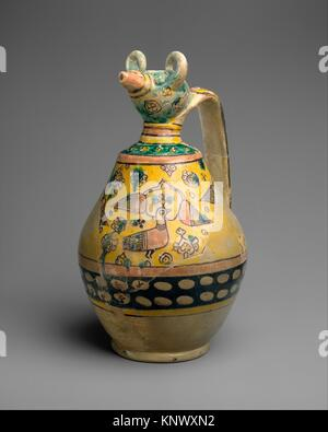 Animal-Spouted Pitcher. Object Name: Ewer; Date: 9th-10th century; Geography: Attributed to Iran, Nishapur. Excavated - Stock Photo