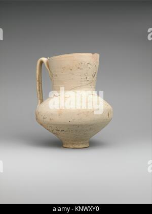 Unglazed Jug with Writing. Object Name: Ewer; Date: 8th-9th century; Geography: Attributed to Iran, Nishapur. Excavated - Stock Photo