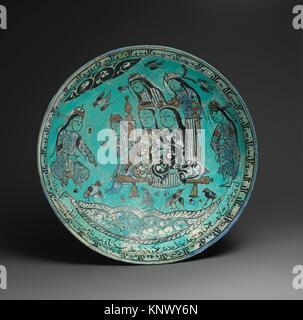 Bowl with a Majlis Scene by a Pond, Abu Zayd al-Kashani, dated A H