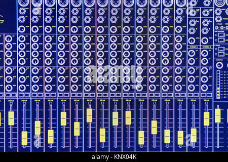 Monitor for a digital audio mixer - Stock Photo