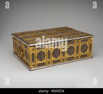 Writing Box with Lattice and Flower Design. Object Name: Writing box; Date: mid-17th century; Geography: Made in - Stock Photo