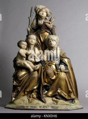 The Virgin and Child, Saint Anne, and Saint Emerentia. Date: 1515-30; Geography: Made in possibly Hildesheim, Lower - Stock Photo