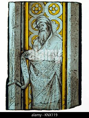 Prophet from a Throne of Solomon. Date: ca. 1390-1410; Geography: Made in Bourges or Burgundy; Culture: French or - Stock Photo