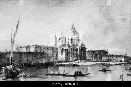 Santa Maria della Salute. Artist: Francesco Guardi (Italian, Venice 1712-1793 Venice); Date: ca. 1760; Medium: Oil - Stock Photo
