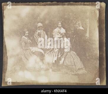 34. Artistical Groups in Various Poses. Artist: Calvert Richard Jones (British, Swansea, Wales 1802-1877 Bath, England); - Stock Photo