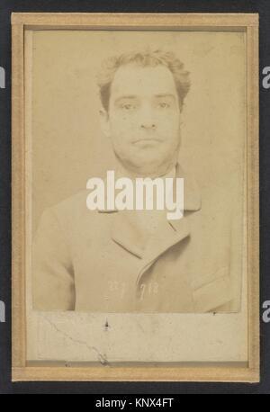 Dauriac. Henri, Georges. 36 ans, né à Memphis (USA). Agent d´affaires. Extortion de fonds. 22/12/94. Artist: Alphonse - Stock Photo