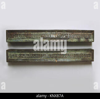 Bronze furniture attachments with silver inlay. Period: Late Hellenistic or Early Imperial; Date: 1st century B.C. - Stock Photo