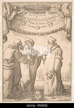Frontispiece for Dialogo di Galileo Galilei. Artist: Stefano della Bella (Italian, Florence 1610-1664 Florence); - Stock Photo