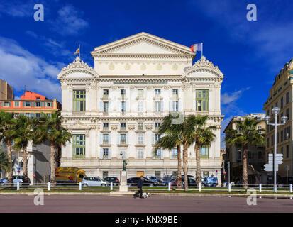 Opéra Nice Côte d'Azur, View of the Opera House, Quai des Etats-Unis, Nice, Cote d'Azur, France - Stock Photo