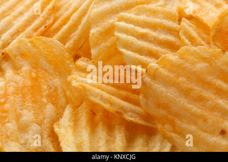 Chips food background - Stock Photo