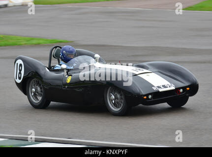 Nick Fennell, Lotus Climax Mk IX, Goodwood Revival 2013, Madgwick Cup - Stock Photo