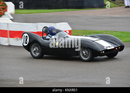 Nick Fennell, Lotus Climax Mk IX, PLX 951, Goodwood Revival 2013, Madgwick Cup - Stock Photo
