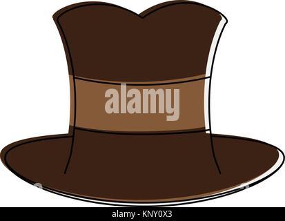 Antique male hat - Stock Photo
