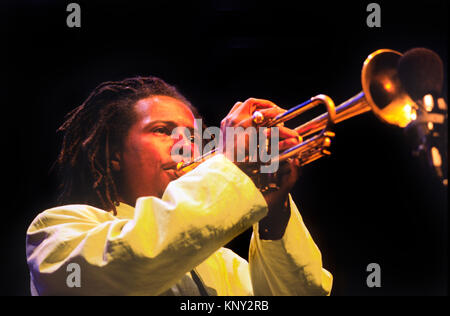 ROY HARGROVE plays a tribute to Miles and Coltrane at the MONTEREY JAZZ FESTIVAL - CALIFORNIA - Stock Photo