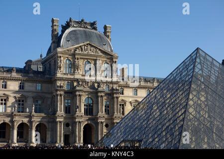 Louvre Museum. Paris. France. Europe. - Stock Photo