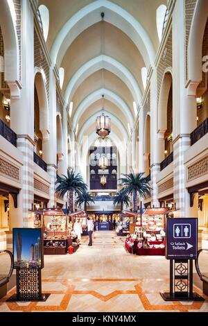 Interior of the Souk Al Bahar, Business Bay, Dubai, The United Arab Emirates. - Stock Photo