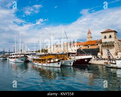 Trogir Croatia Old Town Harbor. - Stock Photo