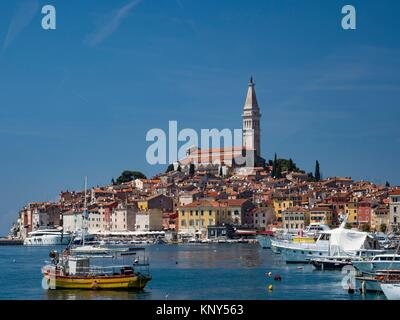 Rovinj Croatia Seaside. - Stock Photo