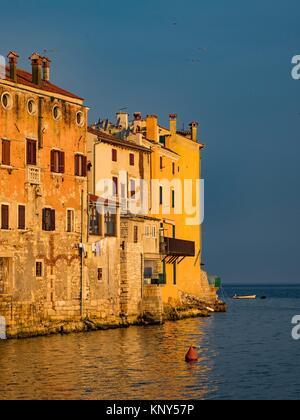 Rovinj Croatia Seaside Sunrise. - Stock Photo