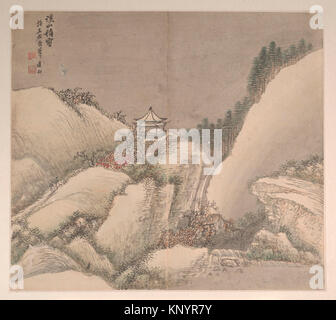 Landscapes in the Styles of Various Artists. Artist: Cao Jian (Chinese, active early 18th century); Period: Qing - Stock Photo