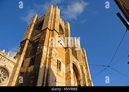 Se Patriarcal -Lisbon Cathedral- built in the 12th century Alfama, Lisbon, Portugal - Stock Photo