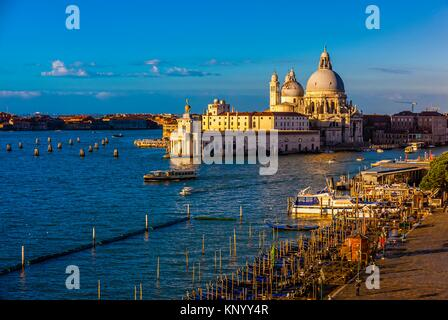 Overview of the Basilica di Santa Maria della Salute, Venice, italy. - Stock Photo