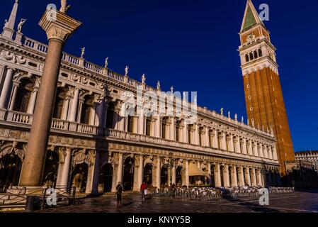 Campanile (bell tower), Piazza San Marco, Venice, Italy. - Stock Photo