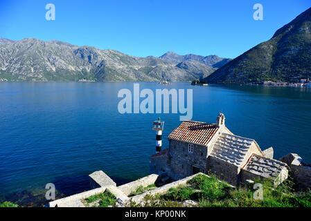 Gospa od Andela, near of Stoliv, Tivat region, Kotor bay, Montenegro. - Stock Photo