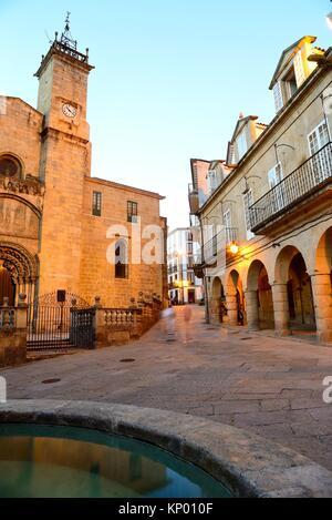 Cathedral of San Martin of Orense from Trigo square, Orense, Spain - Stock Photo