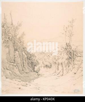 A view of Pozzuoli, seen from the Northeast. Artist: Robert Kummer (German, Dresden 1810-1889 Dresden); Date: early - Stock Photo