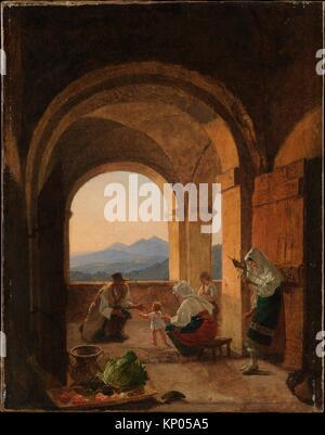 First Steps. Artist: Franz Ludwig Catel (German, Berlin 1778-1856 Rome); Date: ca. 1820-25; Medium: Oil on canvas; - Stock Photo