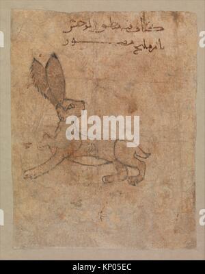 Hare, Folio from the Mantiq al-wahsh (Speech of the Wild Animal) of Ka´b al-Ahbar. Author: Ka´b al-Ahbar (died 652/53); - Stock Photo
