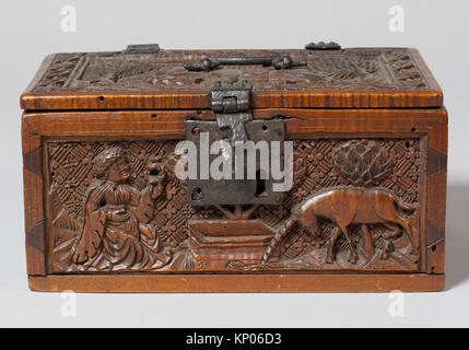 Coffret. Date: late 15th century; Geography: Made in Upper Rhineland, Germany; Culture: German; Medium: Maple; Dimensions: - Stock Photo