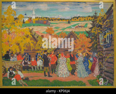 Village Festival. Artist: Boris Mikhailovich Kustodiev (Russian, Astrakhan 1878-1927 Leningrad); Date: 1924; Medium: - Stock Photo
