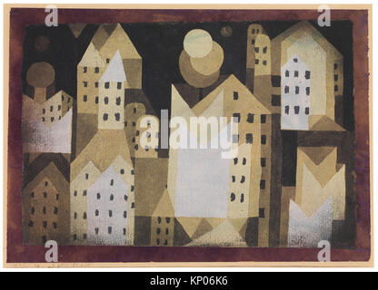 Cold City. Artist: Paul Klee (German (born Switzerland), Münchenbuchsee 1879-1940 Muralto-Locarno); Date: 1921; - Stock Photo