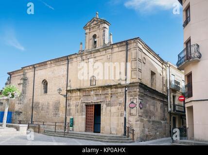 Virgen de la Plaza hermitage in Santo Domingo de la Zalzada. La Rioja. Spain. - Stock Photo