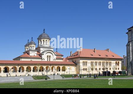 coronation cathedral of the Romanian Orthodox Church of Alba Iulia, Transylvania, Romania. - Stock Photo