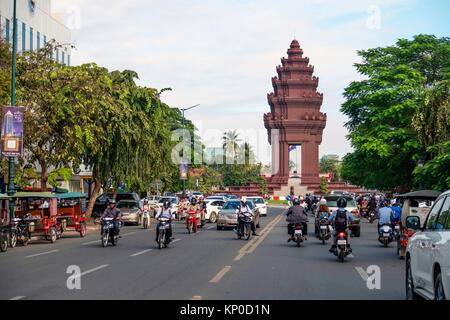 The Independence Monument, Phnom Penh, Cambodia - Stock Photo