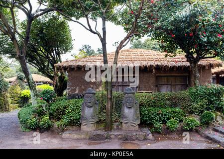 Folk Village, Jeju Island, Korea - Stock Photo