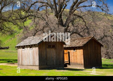 Jail and guardhouse, Fort Tejon State Historic Park, California. - Stock Photo